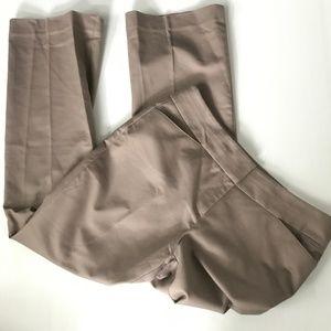 LOFT Outlet Tan Petite Original Fit Trousers 8P